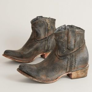 Corral Perforated Leather Bootie, Size 10